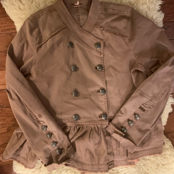 Free People Jackets & Blazers - Free people pea coat - chocolate brown size Large